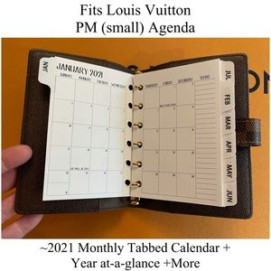 FIT Louis Vuitton Agendas  2021 Calendar*All Sizes